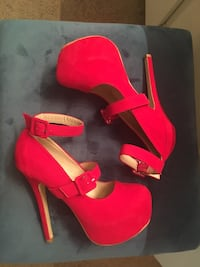 Red Hot Colored Stilettos. Size 6 1/2 Riverside, 92505