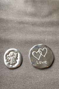 2 cute medallions with sayings on the back - $10 for both Toronto, M8V 0E3