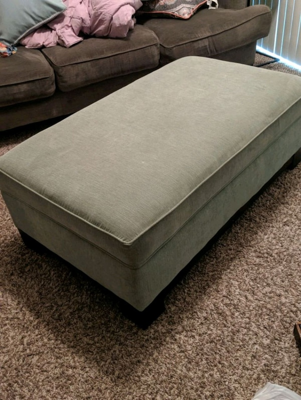 Excellent Light Green Storage Ottoman Ocoug Best Dining Table And Chair Ideas Images Ocougorg