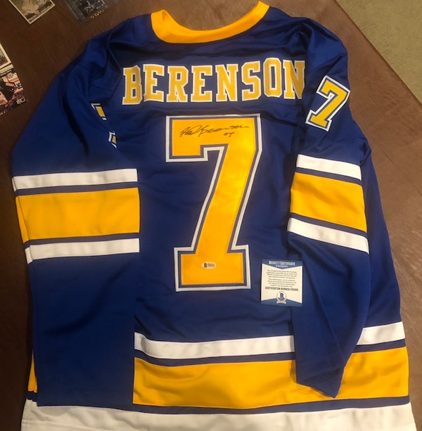 wholesale dealer 913d3 ab366 St Louis Blues Red Berenson Custom Autographed jersey