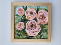 white and pink petaled flowers painting Manor, 78653