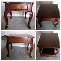 Antique table with drawer .