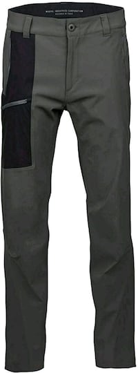 New Men's Softshell Utility Pant, New Charcoal, Large