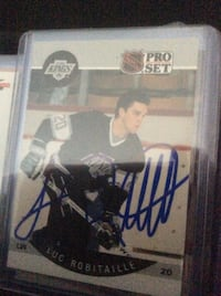 Robitaille, Luc LA Autographed Cards Mississauga
