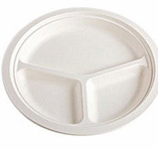 Microwavable strong fibre plates - 50 stk