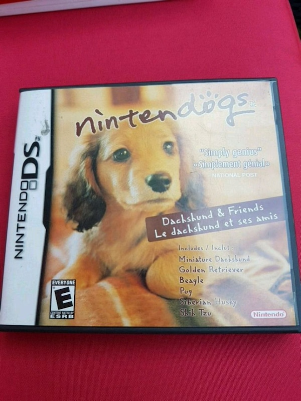 Nintendo dogs DS game