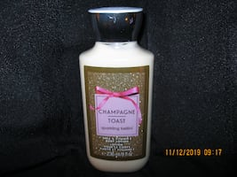 $10 NEW GIFTABLE *RETAILS$14.50 * 8 oz.Bath and Body Works CHAMPAGNE TOAST Shea & Vitamin E Body Lotion