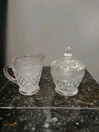 Vintage Jd'Arques Crystal sugar and creamer set Pomona, 91767