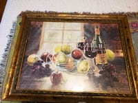 Wine and fruit framed painting Cleveland, 37312