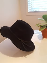 Wool floppy brim hat with leather strap Coquitlam, V3K 1J3
