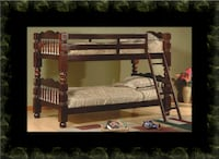 Twin wooden bunkbed frame McLean