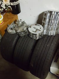 Two matching 16 inch tires and steel black rims Saint Paul, 55112