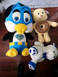 3 stuffed toys in excellent condition penguin stands at 3 feet tall  Brampton, L6W 1V2