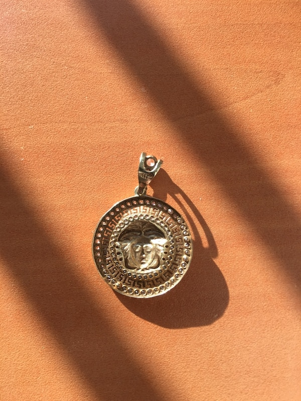 10k Gold chain and Versace pendant 5