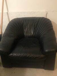 Black leather tufted sofa chair Toronto