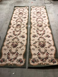 white, brown, and black floral area rug Central, 70739