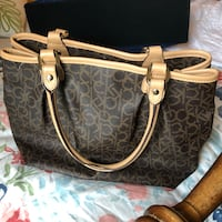brown and beige monogrammed Michael Kors leather tote bag Lincolnshire, 60069
