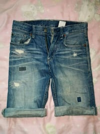 Blå denim Distressed Short Shorts Malmö, 214 38
