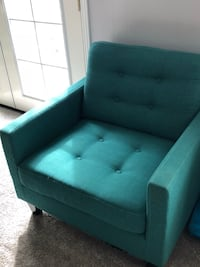 Turquoise oversized chair Arvada, 80004