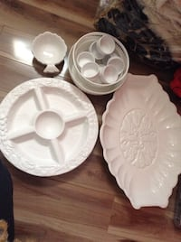 white ceramic plate and bowl Laval, H7T 2B1