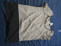 white and black striped crew-neck shirt Calgary, T3K 5S5