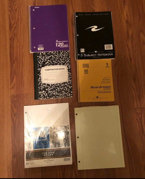 Six notebooks