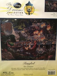 Brand New - Disney Counted Cross-Stitch Kit, Tangled Reston, 20191
