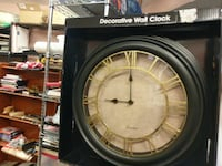 white gold and black decorative wall clock Boyds, 20841