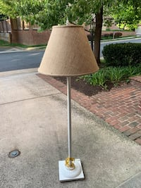 Beautiful and substantial neutral floor lamp with canvas lampshade Mc Lean, 22101