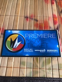 Regal Premiere Movie Ticket Pack (2 Tickets).  Centreville, 20120
