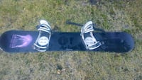black and white snowboard with bindings Calgary, T2W 6C8