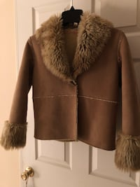 Designer shearling and suede coat for petit it's 12-14 y/O Fairfax, 22031