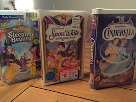 Disney VHS - Sleeping Beauty; Cinderella; Snow White originals