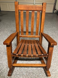 Brown wooden kid size rocking chair Fountain Valley, 92708