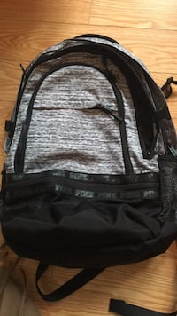 black and gray Victoria's Secret PINK backpack 544 km