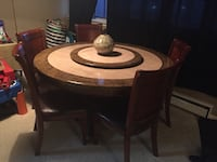 Italian marble table with 5 chairs Toronto, M9C 2A6
