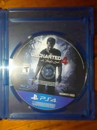 Uncharted 4 PS4 game disc