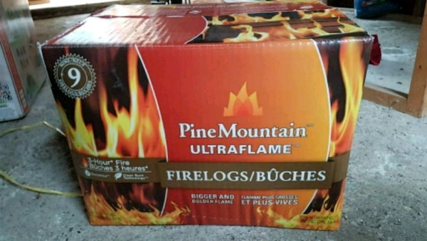 red and black PineMountain ultra flame firelogs bo