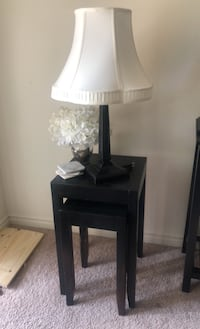 Tables - lamp - coasters - flowers