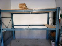 Blue pallet racking shelf..includes wood planks  Vaughan, L6A 4E9