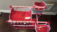 red and white travel cot Vaughan, L4K 5W4