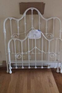 Double White iron Bed frame (all pieces included)  Johns Creek, 30022