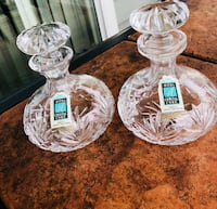 2 Avitra crystal decanters Silver Spring