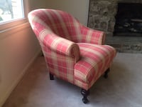 red plaid sofa chair -Negotiable! MOUNTJULIET
