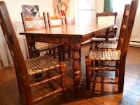 brown wooden dining table set Montréal, H1C 1J8