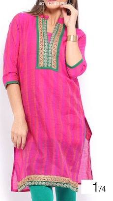 women's pink and green floral embroidered top