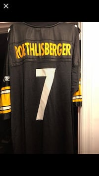black and yellow Pittsburgh Steelers # 12 jersey Leesburg, 20175