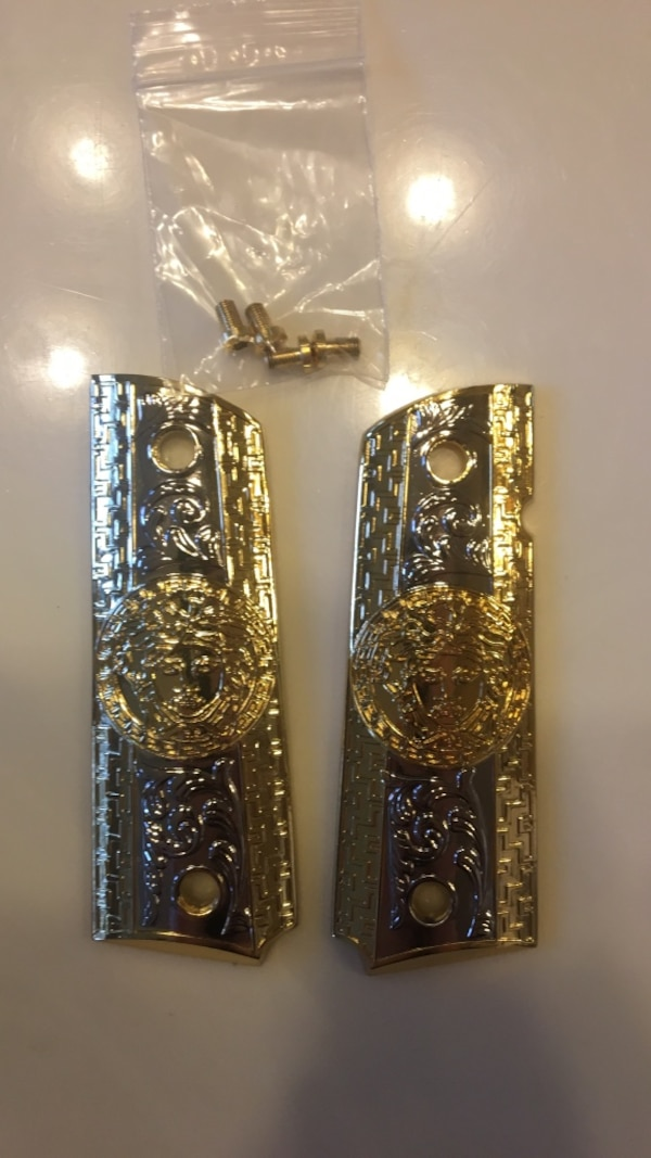 1911 Versace Grips / Gold and Silver plated