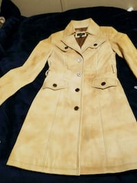 Women's brand new leather coat