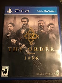 Sony ps4 the order 1886 game case with game cd Gaithersburg, 20879